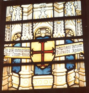 Window in the Lady Chapel of Downside Abbey