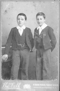 Joseph and Alfred in 1898