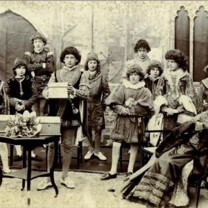 The Merchant of Venice - 1898 - Ramsgate.   Alfred - centre back. Joseph - right.