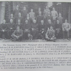 Newman Society 1907