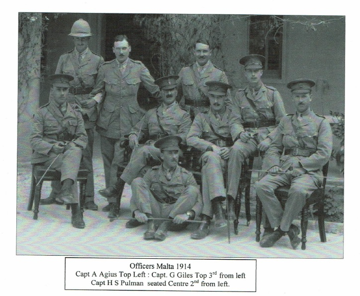 Officers in Malta 1914