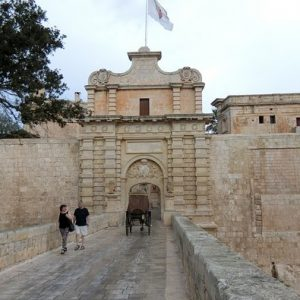 The entrance to Mdina - The Silent City