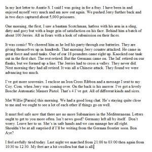 Charles Asphar's letter home.