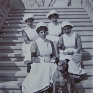 Mary Muscat  with Violet Briffa, later Matron of St Edwards College